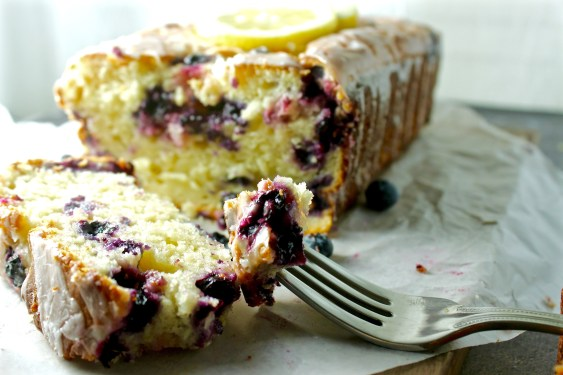 Lemon Blueberry Olive Oil Greek Yogurt Cake