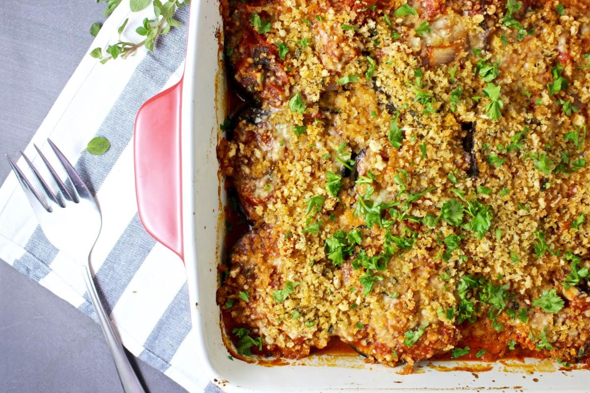Roasted Eggplant Parmesan