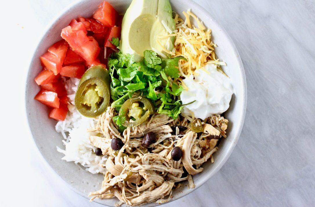 Slow Cooker Mexican Chicken Bowl