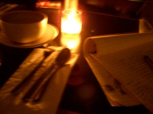 My table at the start of a typical night.