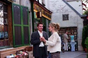 Ethan Hawke and Julie Delpy early in Before Sunset