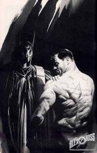 Alex Ross' painting of Bruce Wayne's scarred back