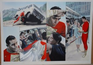 In-Process Boards of Captain Marvel, by Alex Ross