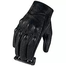 Full finger Goat Skin Leather Touch Screen Motorcycle Gloves