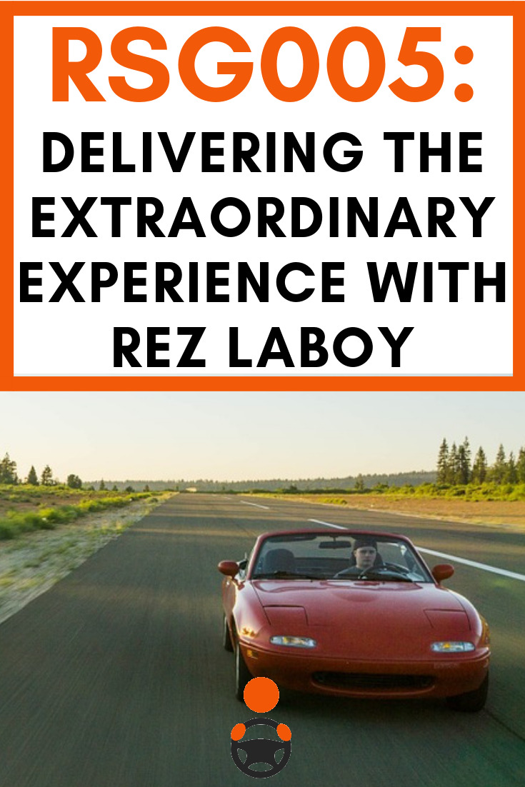 RSG005: Delivering the Extraordinary Experience With Rez LaBoy. This podcast is a great introduction to his class and if you enjoy what you hear, I highly recommend that you contact him for more info about his online classes.  #rideshare #ridesharing #Uber #Lyft