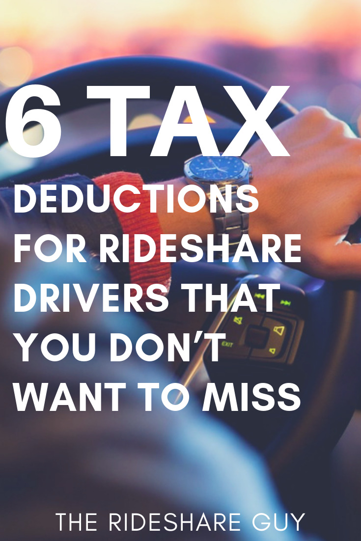 6 Tax Deductions For Rideshare Drivers That You Don't Want to Miss. Remember, this site is all about helping drivers earn more money by working smarter, not harder.  And taking advantage of tax deductions is one of the easiest ways to keep more money in your pocket.  #tax #rideshare #driver