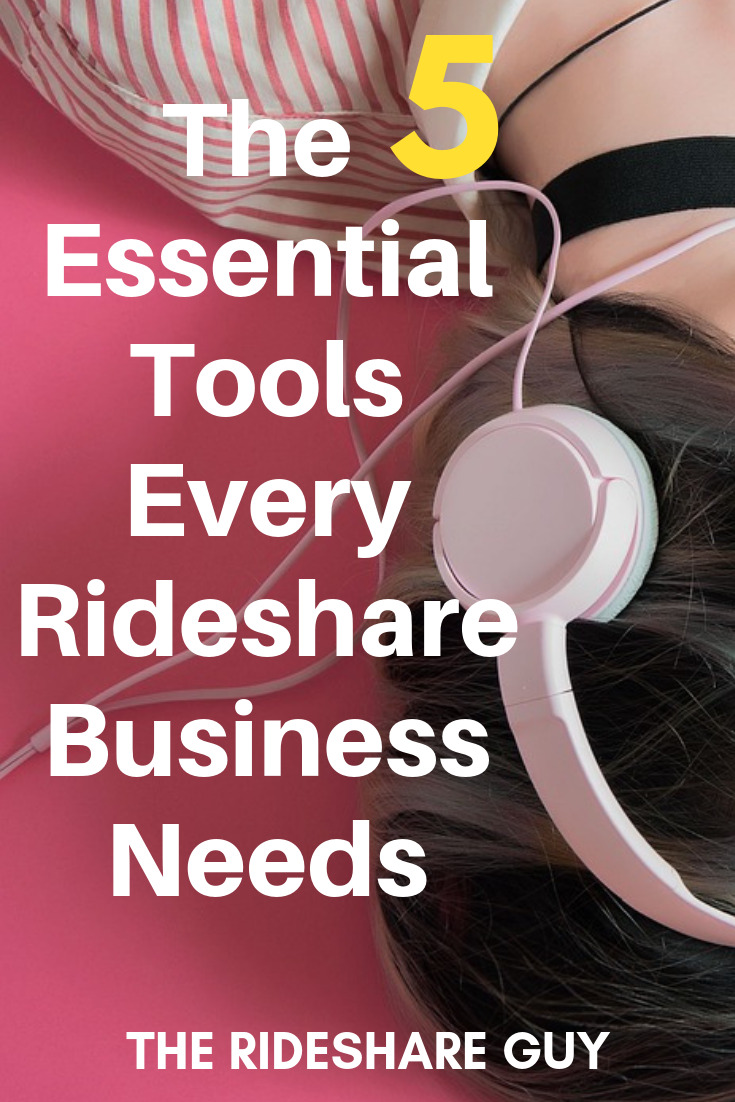 The 5 Essential Tools Every Rideshare Business Needs. There are a few essential qualities and tools I think every top notch driver should add to their tool box. This starts with my first suggestion about music. #rideshare #business #earnmoremoney #earnmore