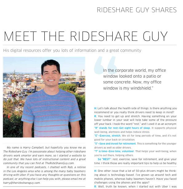 Uber Momentum Magazine - The Rideshare Guy Feature - Harry Campbell