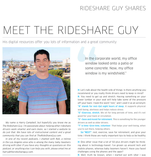 Uber Momentum Magazine - The Rideshare Guy Feature - Harry Campbell