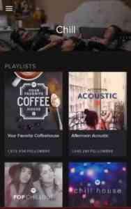 Screenshot of Spotify app