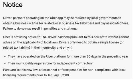 uber business license