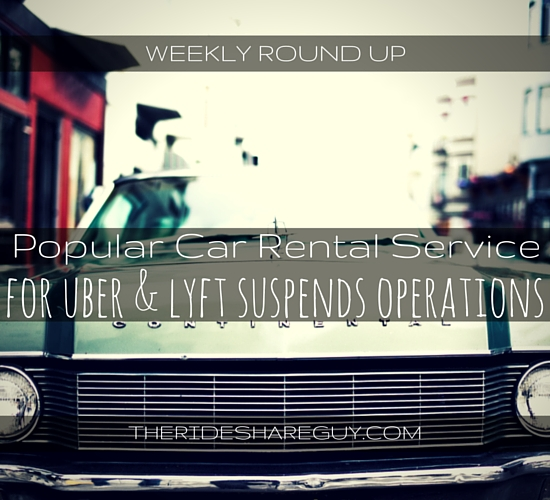 John Ince covers a popular car rental service closing shop, the cottage industry around training drivers and an interesting UberPool promotion in NYC.