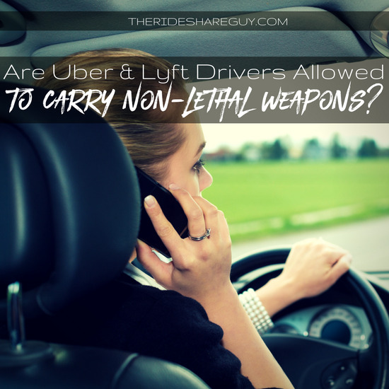 Are Uber and Lyft drivers allowed to carry weapons in their cars? While state laws differ, Uber and Lyft's policies are clear, but do you agree with them?