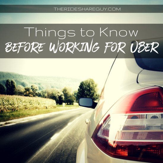working for Uber