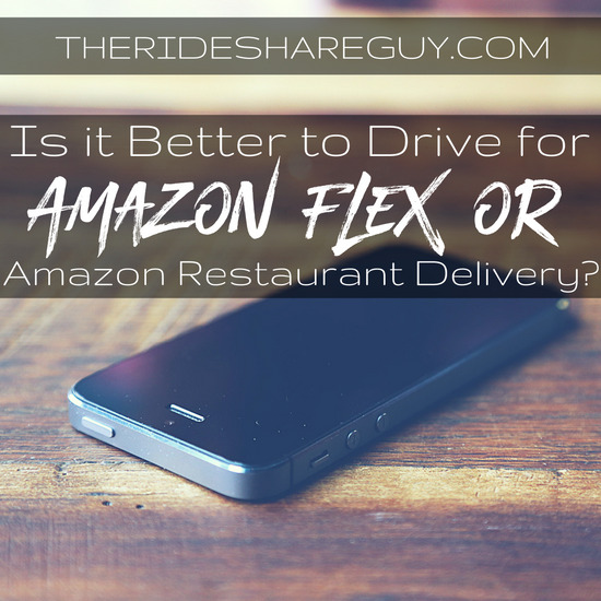 Jon gives us the lowdown on his experience working with Amazon Flex and how it compares to their new restaurant delivery program.