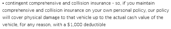 Uber's contingent collision policy