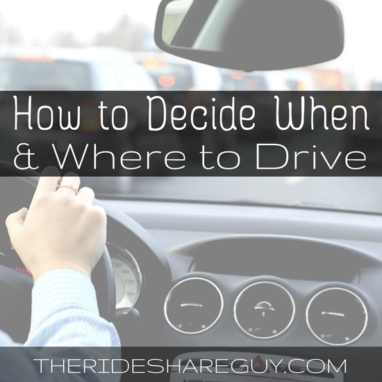 Not really sure when and where to drive as a rideshare driver? It turns out there's more to driving than just turning on your app and driving.