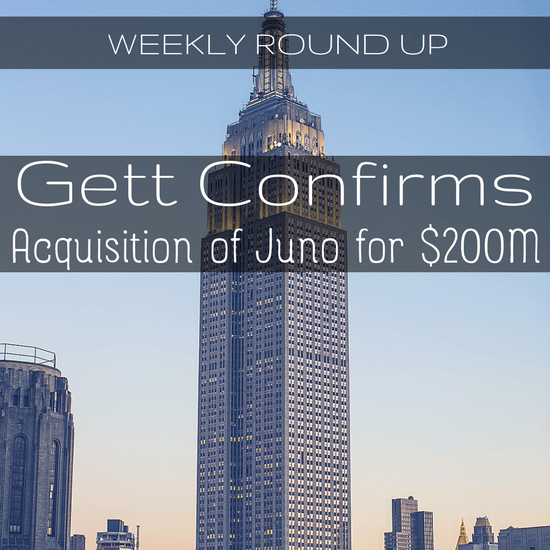 In this round up, John Ince covers the Juno/Gett acquisition, another Uber lawsuit and the tragic death of an Uber engineer.
