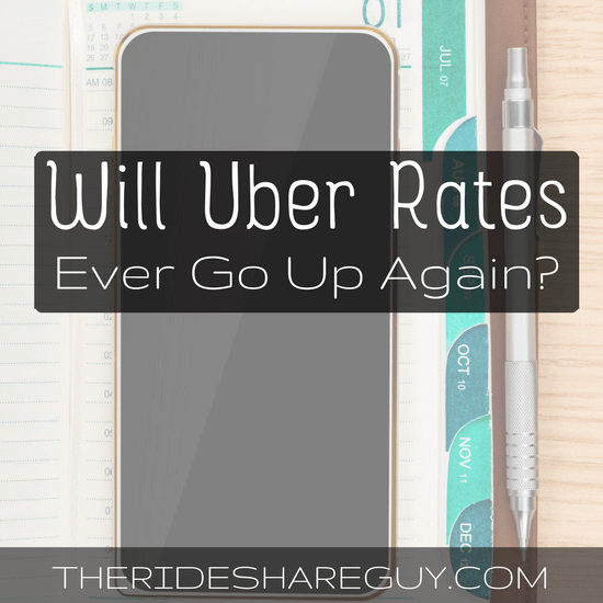 What will it take for Uber rates to increase again? We go over a few scenarios in which Uber rates could go up, but don't hold your breath!