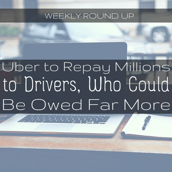 John highlights the news coverage this week, including that Uber is to repay millions to drivers, new predictive pricing, and in-house counsel woes.