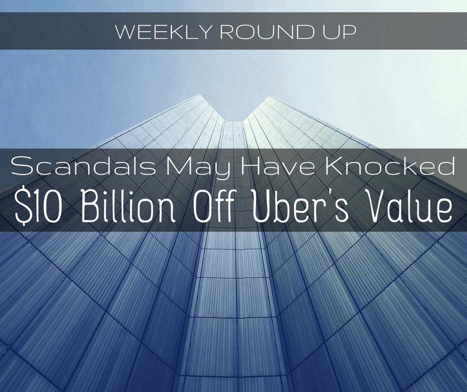 In today's round up, John Ince covers how scandals have impacted Uber's value and litigation continues for Uber's driverless car technology.
