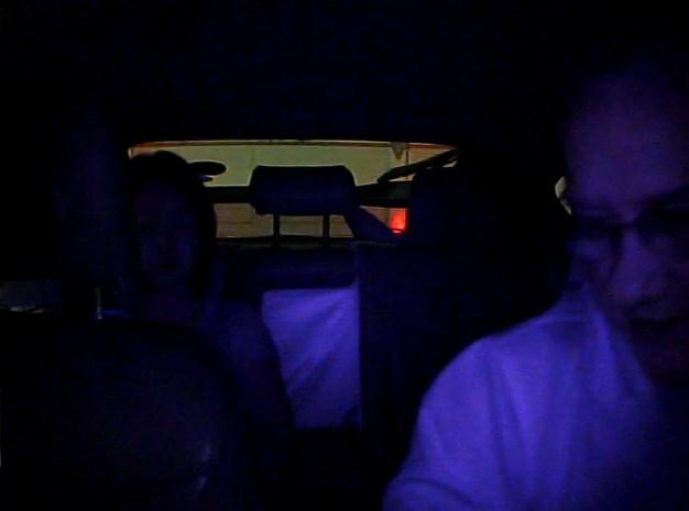 Dual dash cam on night mode