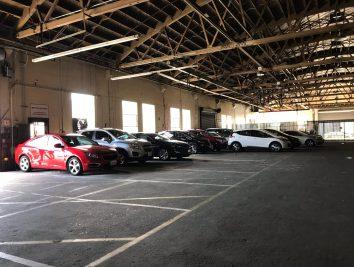 image of GM Vehicles at the San Francisco Maven Gig warehouse