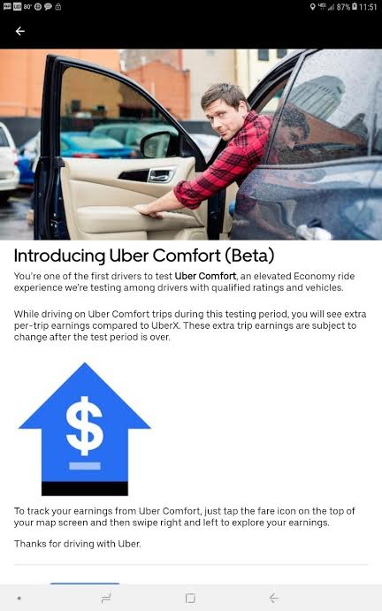Here S What Drivers Should Expect From Uber Comfort