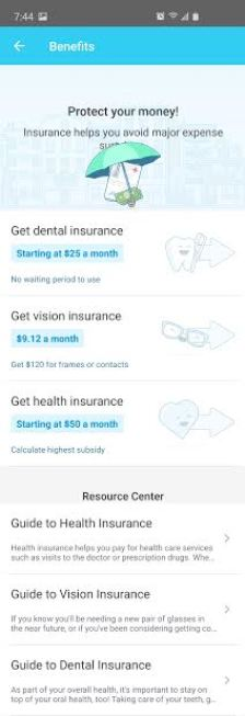 image of list of benefits from Stride tax app mileage tracker