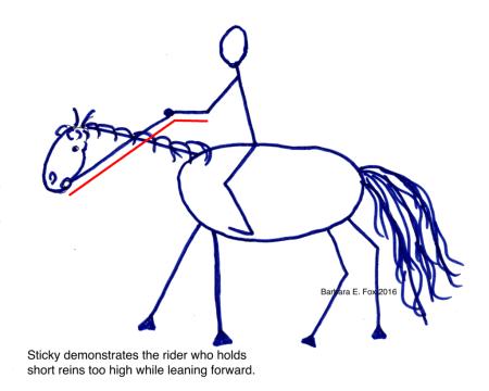 rider hand position
