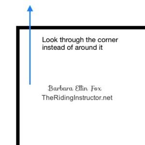 inside shoulder fix through corner TheRidingInstructor.net