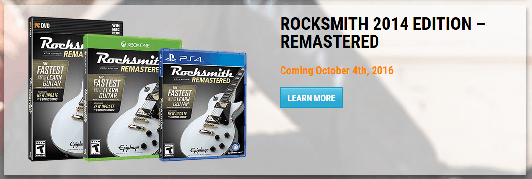 Rocksmith 2014 Remastered coming in October! - The Riff Repeater