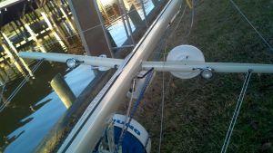 TV Antenna, Hailer, Radar, Radar Reflector, Deck/ Steam Light, And spreader Lights