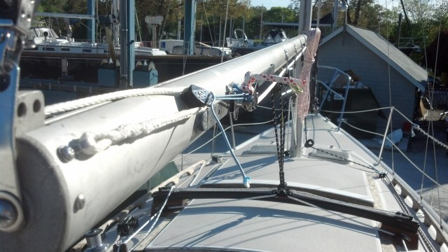 New Harken Traveler, New Running Rigging, New outhaul, New Main Sheet Configuration, New Vang Configuration, and a Newly Rigged Single Line Reef System. Catalina 27.