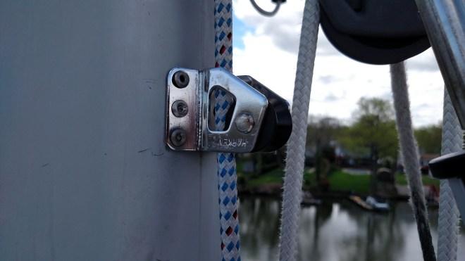 The Improper way to install a Harken Halyard Restrainer