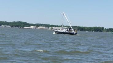 Navy 44 broken mast