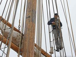 Rigger in the rigging