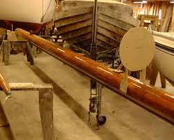 Wooden mast refinished