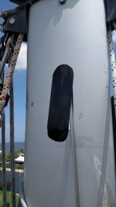 Covering tang holes on US Spars, Beneteau 411