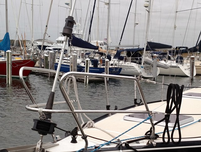 How to tie the furler's halyard swivel to the deck. How to keep the halyard swivel from going up the mast. How to not sky the halyard.