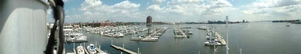 Baltimore inner harbor from aloft