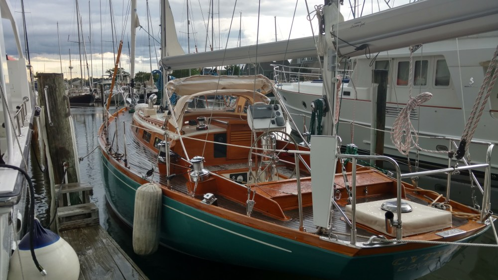 Alden Yawl with New Taller Spars and some new Froespar Leisure Furls!!! Campbell's Boat Yard's. The Rigging Company.