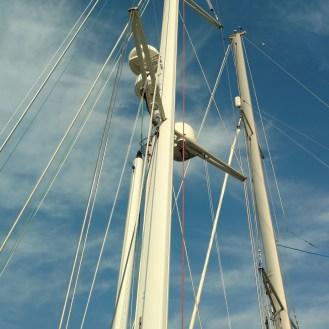 Moody 54 new mast finish