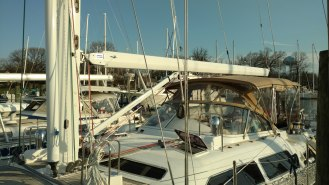moody 54 refit project at the rigging company