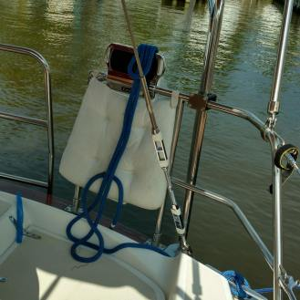 Hydraulic Backstay Failsafe. Sabre 38. Port Annapolis. TheRigging Company.