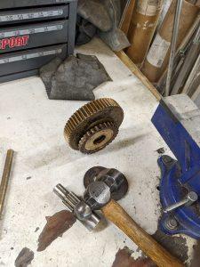 Little Harbor 54. Centerboard winch rebuild