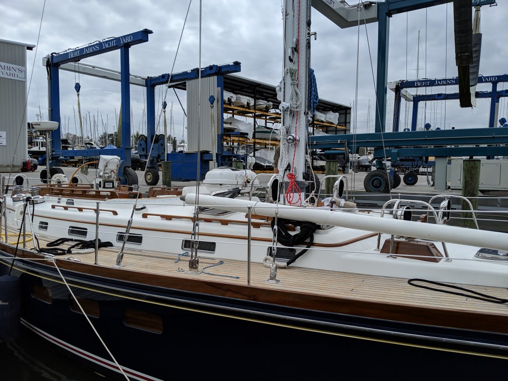 Little Harbor 54. New Rod and mast paint. The rigging Company.