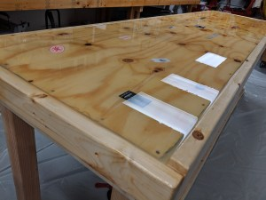 epoxy resin top benches at the rigging co.