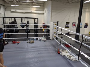 The Rigging Company Re-stringing a Boxing Gym. Crazy 88 MMA
