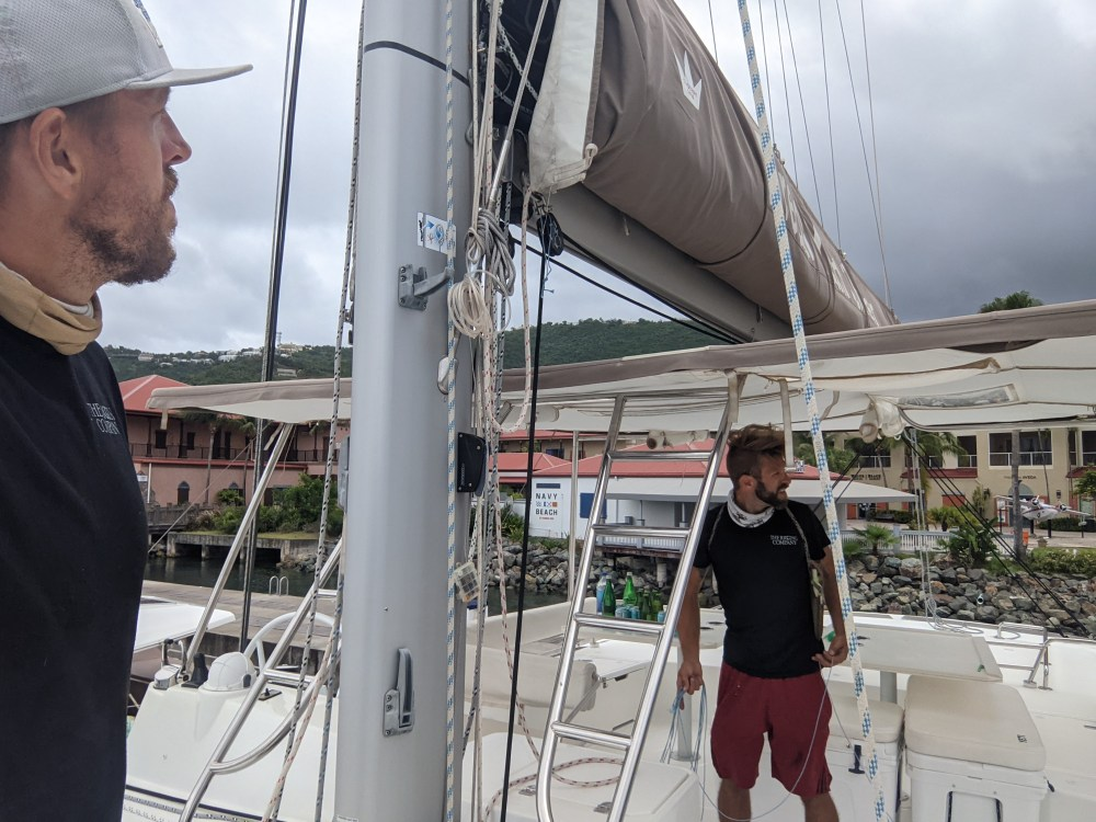 rigging at yacht haven grand
